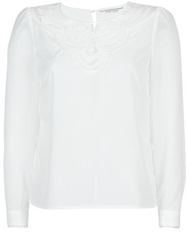 Naf Naf HONGRIE C1 women's Blouse in White
