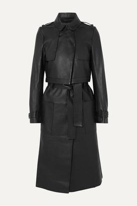 RtA Harlow Leather Trench Coat - Black