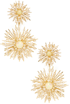 Maiyet 18K Yellow Gold, Opal & 8.74 Total Ct. Diamond Starburst Earrings