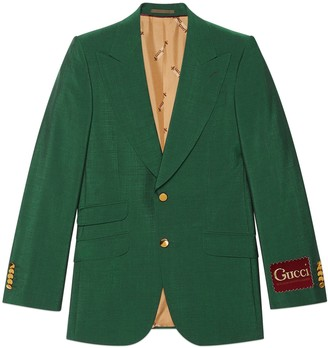 Gucci Wool mohair jacket with label