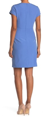 Nanette Nanette Lepore Fitted Angle Button Slit Dress