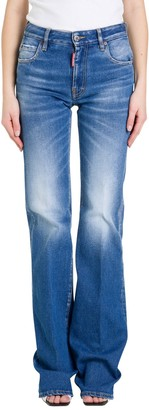 DSQUARED2 Flared Jeans With Basket Insert