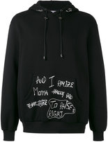Selfmade By Gianfranco Villegas - hooded boxer sweater - men - Cotton - 48