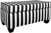 Skyline Storage Bench, Canopy Stripe Black/white