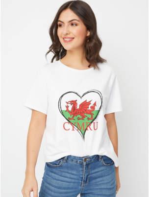 George White Wales Slogan T-Shirt