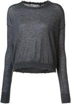 Helmut Lang cashmere crew neck sweater - women - Cashmere - M