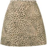 Joie leopard print skirt - women - Cotton/Goat Skin/Acetate - 0