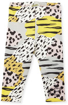 Kenzo Brienne Animal-Print Stretch Leggings, Pink, Size 3-18 Months
