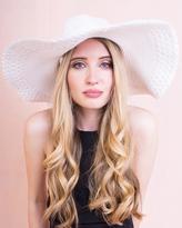 Missy Empire Erika White Wide Brim Straw Hat