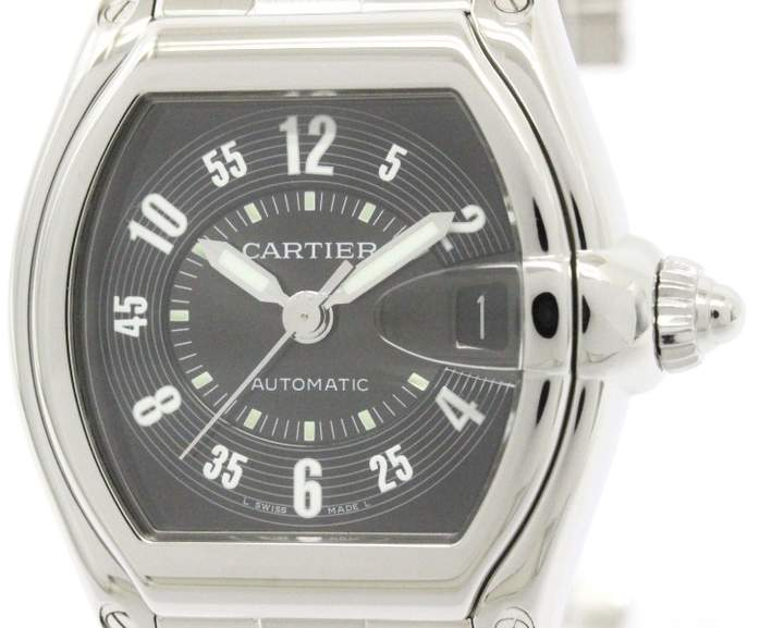 Cartier Roadster W62004V3 Stainless Steel Black Dial Automatic 38mm Mens Watch