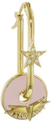 Foundrae Pave Star Passion Hoop Base Earring
