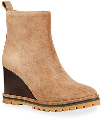 Tory Burch 85mm Suede Wedge Booties
