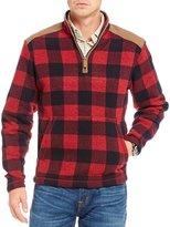Daniel Cremieux Fleece Check Quarter-Zip Pullover