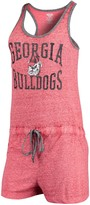 Unbranded Women's Concepts Sport Heathered Red Georgia Bulldogs Squad Romper