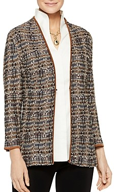 Misook Mixed-Tweed Knit Jacket