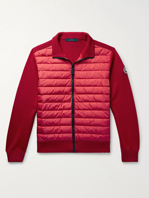 Canada Goose HyBridge Quilted Down Shell and Merino Wool Jacket - Men - Red