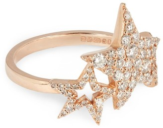 Bee Goddess Rose Gold And Diamond Sirius Star Ring (One Size)