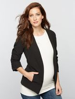 A Pea in the Pod Willow&clay Open Front Crepe Maternity Blazer