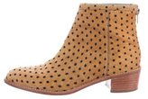 Loeffler Randall Ponyhair Polka Dotted Ankle Boots