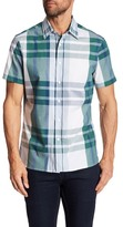 Perry Ellis Plaid Short Sleeve Regular Fit Shirt