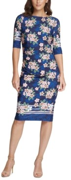 Vince Camuto Jersey Floral Sheath Dress