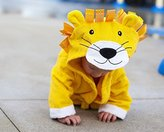 Baby Steps Baby-Steps, Yellow Lion Hooded Bathrobe and Towel, 0-12 Months, Bath Robe Baby Shower Gift. Free Gift Box with Purchase!