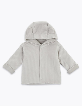 Marks and Spencer Cotton Velour Hooded Jacket (0-12 Mths)