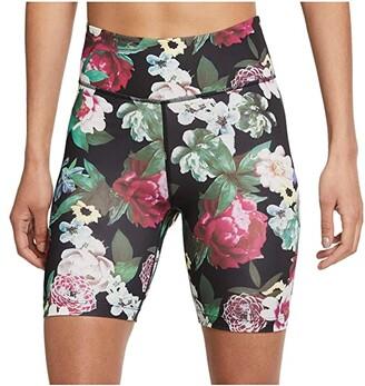 Nike One Shorts Femme (Black/Metallic Silver) Women's Casual Pants