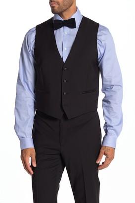 Calvin Klein Plain Black Slim Fit Suit Separate Vest