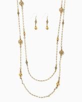 Charming charlie Filigree Elegance Station Necklace Set