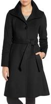 Eliza J Women's Luxe Wool Blend Belted Long A-Line Coat