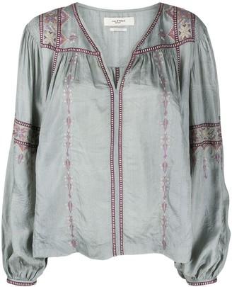 Etoile Isabel Marant Tosca cross-stitch embroidered tunic