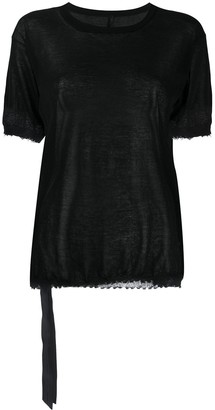 Unravel Project sheer short-sleeve T-shirt