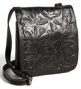 Patricia Nash 'Granada' Embossed Leather Crossbody Bag - Black