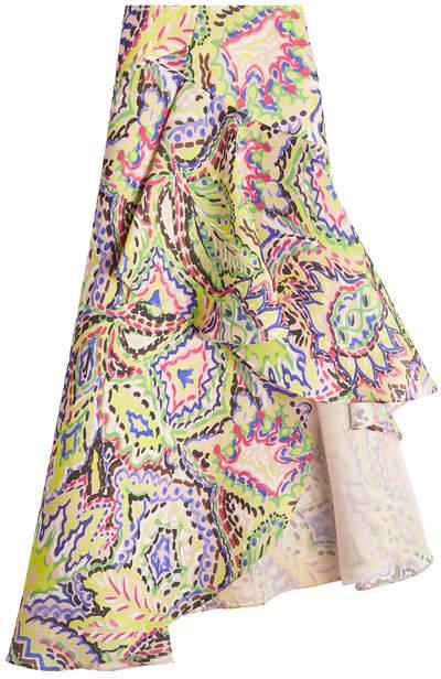 DELPOZO Asymmetric Silk Skirt