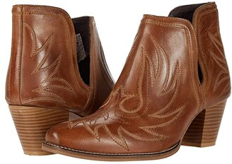 Roper Rowdy (Tan Leather) Women's Boots