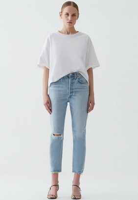 Singer22 Riley High Rise Straight Crop Jean