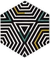 Kinder GROUND Large Black and White Zebra Hexagon Rug