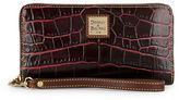 Dooney & Bourke Crocodile-Embossed Leather Zip-Around Wallet