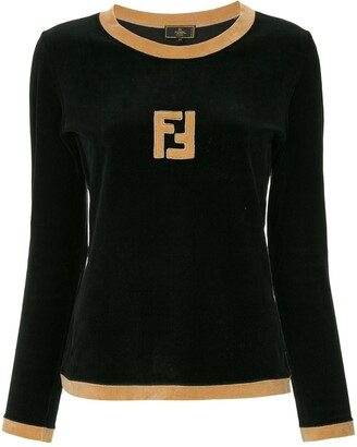 Fendi Pre-Owned FF logo longsleeved top