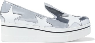 Stella McCartney Binx Star Cutout Faux Mirrored-leather Platform Slip-on Sneakers