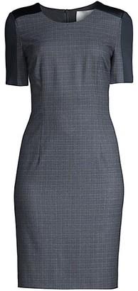 HUGO BOSS Dirusa Stretch Wool Sheath Dress