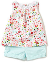 Little Me Baby Girls 12-24 Months Floral-Printed Top & Solid Shorts Set