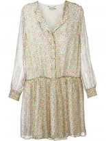 Saint Laurent floral print shirt dress