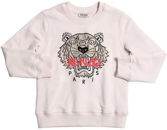 Kenzo Kids Embroidered Cotton Sweatshirt