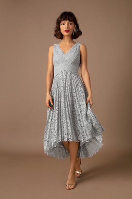 BHLDN Perri Dress By in Silver Size 0