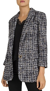 The Kooples Winter Tweed Blazer Jacket