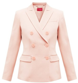 Altuzarra Double-breasted Wool-blend Jacket - Light Pink