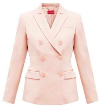 Altuzarra Double-breasted Wool-blend Jacket - Womens - Light Pink
