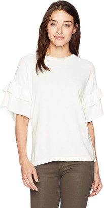 French Connection Women's Sudan Marl Ruffle Jumper